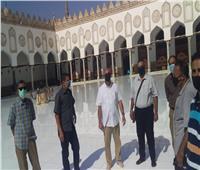 لجنة من الآثار تعاين الجامع الأزهر بعد واقعة نشوب حريق