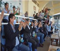 محافظ الغربية يؤازر فريق غزل المحلة في صعوده للدوري الممتاز