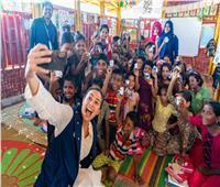 صور| هند صبري: سعيدة بحصول برنامج الأغذية العالمي على جائزة نوبل للسلام