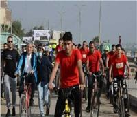 محافظ المنيا يقود الماراثون القومي للدراجات ضمن احتفالات أكتوبر