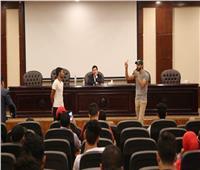 وزير الرياضة يلتقي شباب المحافظات الحدودية المشاركين في  برنامج «أهل مصر»