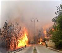 بالفيديو| حرائق كبيرة في غابات لبنان