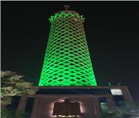 إضاءة برج القاهرة باللون الأخضر لرفع الوعي بالأمراض النفسية