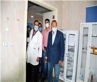 جولةمفاجئة لمحافظ القليوبية بمستشفى شبين القناطر المركزى