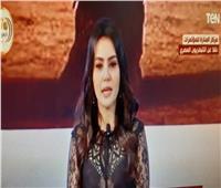 دينا فؤاد بعد تكريمها أمام الرئيس: جيل المستقبل لازم يعرف إحنا بنحارب إيه