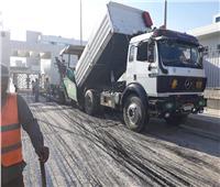 استمرار رصف وتطوير شوارع مستشفى الإسماعيلية العام