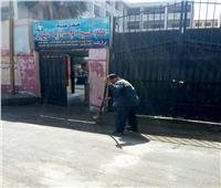 بالصور| حملات نظافة بمحيط مدارس الجيزة