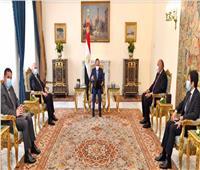 بالصور.. «السيسي» يلتقي وزير الخارجية العراقي