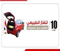 إنفوجراف | 10 فوائد للغاز الطبيعي كوقود بديل للسيارات