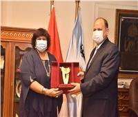 محافظ أسيوط يستقبل وزيرة الثقافة استعدادا لفعاليات «صنياعية مصر» و«ابدأ حلمك»