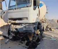 إصابة 12 شخصا في حادث تصادم بين سيارتين بملوى