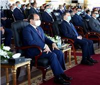 بالصور  الرئيس السيسي يشهد الاحتفال بتخرج دفعة جديدة من أكاديمية الشرطة