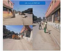 صور  رفع ٣٨٠ طن مخلفات قمامة بمدينة كرداسة