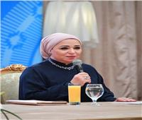 انتصار السيسي تنعي زوجة الفريق محمد العصار