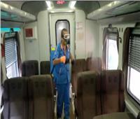 قبل الدراسة.. حملة تعقيم واسعة لقطارات السكة الحديد