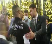 فيديو وصور| وصول محمد رمضان إلى عزاء الراحل محمود ياسين