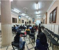 تواصل فعاليات اجتماع الشباب بكاتدرائية العذراء في قويسنا
