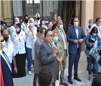 انطلاق الدراسة بجامعة الإسكندرية وسط تشديد الإجراءات الاحترازية من «كورونا»
