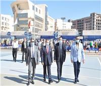 صور| طلاب جامعة كفر الشيخ يؤدون «تحية العلم»