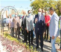 محافظ القاهرة يتفقد أعمال تطوير وتجميل الجزيرة الوسطى بصلاح سالم