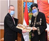 البابا تواضروس يستقبل السفير الروسي بالقاهرة