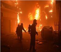 السيطرة على حريق شب في مخلفات أسفل كوبري شبرامنت