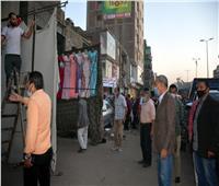 فيديو| حملة مكبرة لتطهير شارع عرابي بالقليوبية من الباعة الجائلين