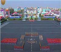 فيديو| تحية خاصة من الموسيقات العسكرية للرئيس: «أحلى بلاد الدنيا مصر»