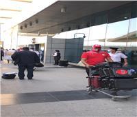 صور| بعثة الوداد تصل مطار القاهرة