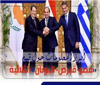 إنفوجراف| أبرز المعلومات حول قمم «مصر- قبرص- اليونان» الثلاثية