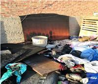 صور| حريق هائل بشقة في «الغربية»