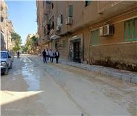 صور| تجريد ورصف شوارع العمرانية
