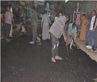 شوارع مدينة إسنا تتجمل.. بدء عملية الرصف بعدد من الشوارع الرئيسية للمدينة