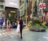شاهد.. أمريكيان يتزوجان على الطريقة المصرية في نيويورك