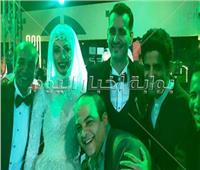 صور| نجوم الفن يحتفلون بزفاف ابنة سليمان عيد