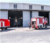 تدريب عملي ناجح على مكافحة حريق بميناء دمياط