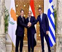 نرصد أبرز ثمار التعاون الثلاثي بين مصر وقبرص واليونان