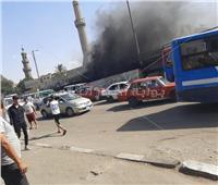 صور| السيطرة على حريق أسفل كوبري السيدة عائشة