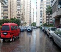 أمطار غزيرة تضرب سواحل الإسكندرية
