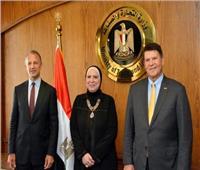 وزيرة التجارة والصناعة تبحث مع وفد الخارجية الأمريكية تعزيز التعاون الاقتصادى المشترك