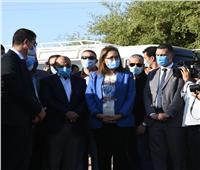 وزيرة التخطيط تتفقد أحد مشروعات تأهيل وتبطين الترع بسوهاج