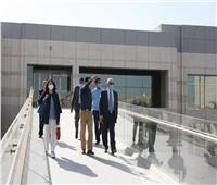 صور | السفير الإيطالى يزور المتحف القومي للحضارة المصرية