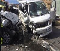 إصابة 6 أشخاص في تصادم 4 سيارات بالمنيا
