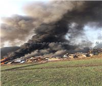 صور| حريق هائلبشونة خردة بزفتى والدفاع المدني يحاول السيطرة