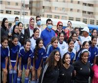 الكرة النسائية تشارك في المهرجان الرياضي للمرأة