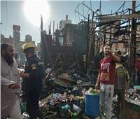 صور.. حريق يلتهم أكشاك سوق محطة مصر في الإسكندرية