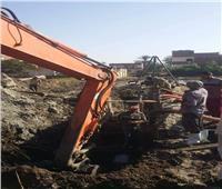 صور| متابعة مشروعات المرافق ورفع القمامة في القصاصين بالإسماعيلية