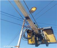 تركيب 373 عمود و6 محولات كهرباء بالإسماعيلية