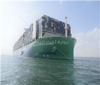 قناة السويس تشهد عبور أكبر سفينة حاويات فى العالم تعمل بالغاز الطبيعى