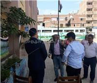 انتخابات النواب 2020| صور.. رئيس مدينة أوسيم يتفقد اللجان الانتخابية